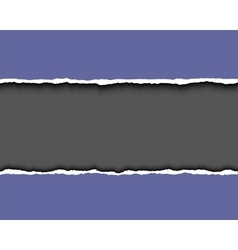 Violet torn paper with dark copy space realistic vector