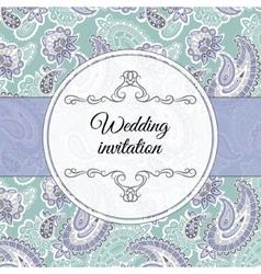 Wedding invitation in beige style vector image