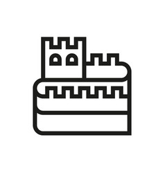 great wall of china icon on white background vector image