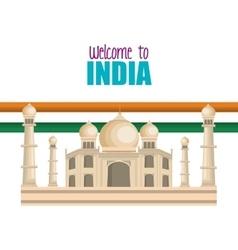 set monuments india design vector image