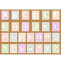 stamp alphabet vector image vector image