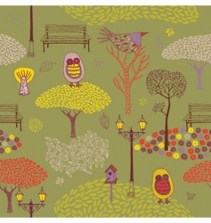 autumn park background vector image vector image