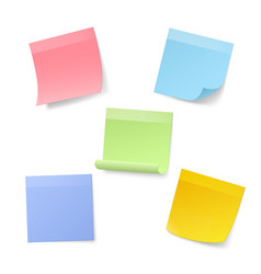 blank realistic sticky note papers vector image