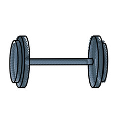 drawing dumbbell gym equipment sport image vector image vector image