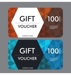 Gift voucher template with modern pattern design vector image
