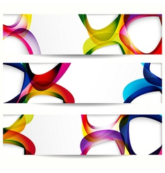 Abstract banner with forms of empty frames for vector image vector image