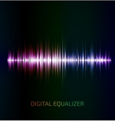 Abstract colorful music equalizer vector image
