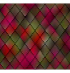 Abstract Green Red Mosaic Seamless Pattern Shadows vector image