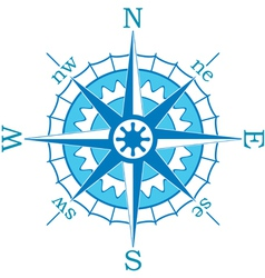 blue compass vector image