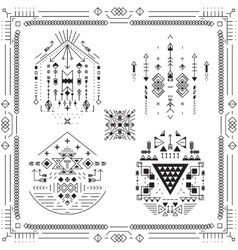 Boho tribal ethnic elements vector image vector image