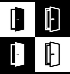 door sign black and white vector image