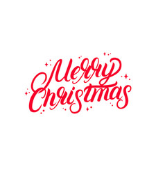 merry christmas 2018 hand written lettering text vector image