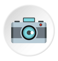 photo camera icon circle vector image