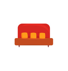 red sofa or couch with pillows living room or vector image