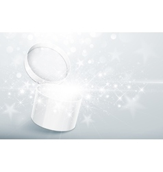 Christmas silver box vector image vector image