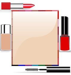 Cosmetics Border Frame vector image