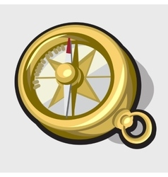 Gold antique compass vector image vector image