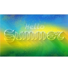 Hand drawn text HELLO SUMMER lettering vector image vector image