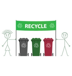 recycling banner vector image vector image