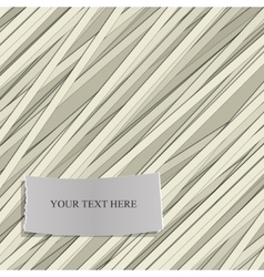 Stripe pattern with Label for Text vector image vector image
