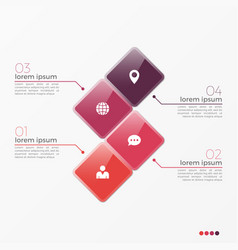 4 option infographic template with squares vector