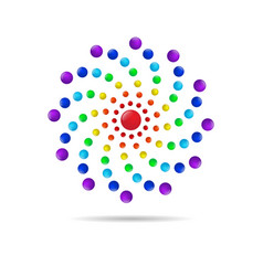 abstract circle dots 3d logo iconxa vector image