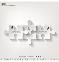 Abstract puzzle infographic Cloud computing vector image