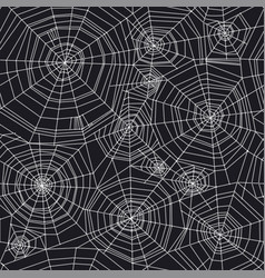 abstract spider web halloween seamless pattern vector image