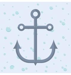 Anchor nautical marine icon graphic vector image