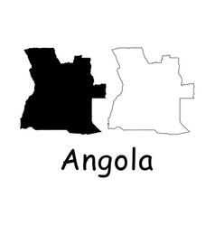 Angola map vector