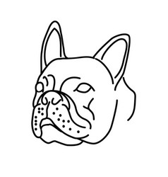 animal bulldog icon design clip art line icon vector image
