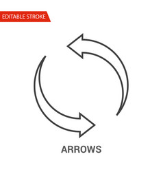 Arrows icon thin line vector