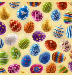 Background with decorated easter eggs design vector