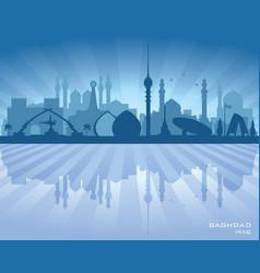Baghdad iraq city skyline silhouette vector