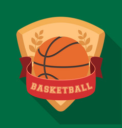 Basketball emblembasketball single icon in flat vector