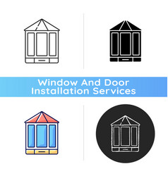 bay and bow windows icon vector image