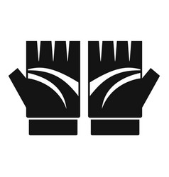 bike gloves icon simple style vector image