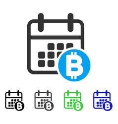 bitcoin calendar flat icon vector image