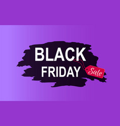 black friday sale promo poster with advert info vector image