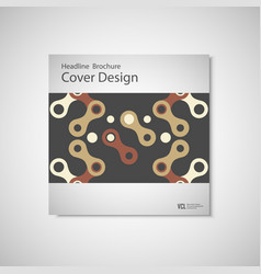 Brochures design templates pattern with vector