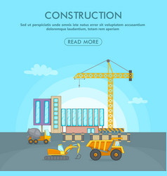 building process concept area cartoon style vector image