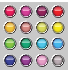 Button web set vector image