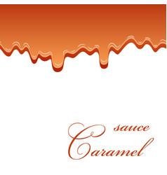 Caramel sauce seamless pattern 3d caramel drop vector