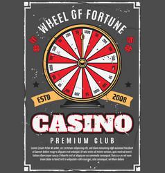 Casino poker game wheel of fortune gambling vector