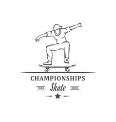 championship skate logotype vector image