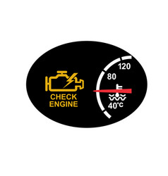 Check engine warning symbol icon vector