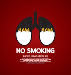 Cigarettes Ash In Lung-No Smoking Concept vector image