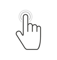 Clicking hand icon tap or press hand touch vector