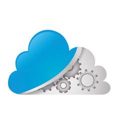 cloud computing technology vector image