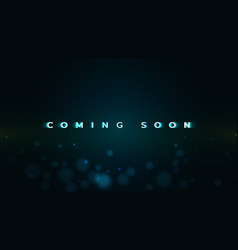 Coming soon text on dark background vector